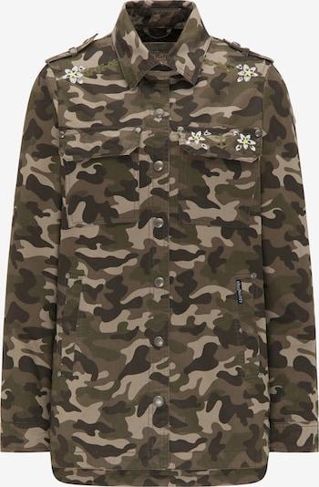 DreiMaster Vintage Jacke in hellbraun / khaki / dunkelgrün, Produktansicht