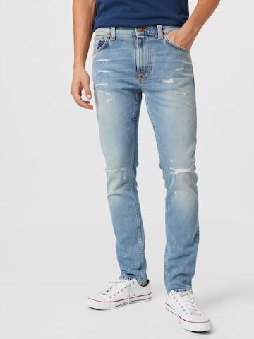 Nudie Jeans Co Jeans 'Lean Dean' in Blau