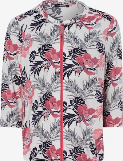 Olsen Shirt in grau / koralle / schwarz / weiß, Produktansicht