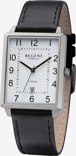 REGENT Analoguhr in schwarz / silber / weiß, Produktansicht