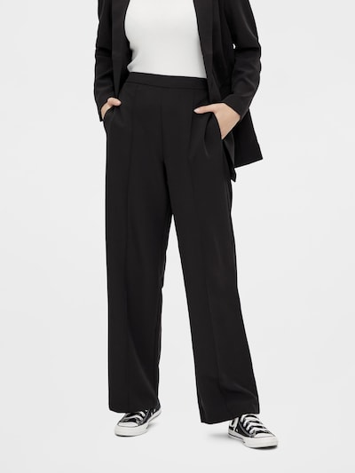PIECES Hose 'Bossy' in schwarz, Modelansicht
