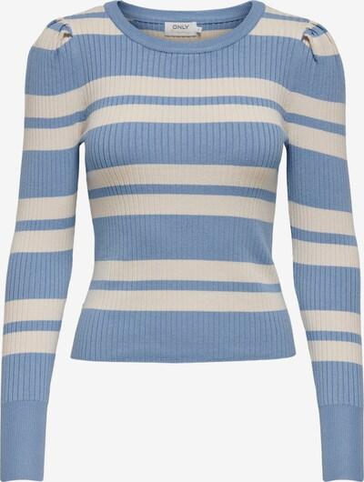ONLY Pullover in blau / weiß, Produktansicht