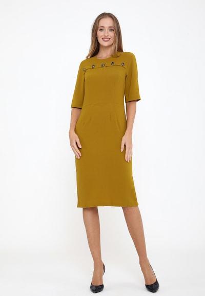 Madam-T Kleid 'Noella' in gelb, Modelansicht