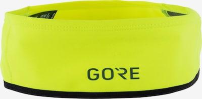 GORE WEAR Mütze 'GWS Windstopper' in neongelb / dunkelgrau / schwarz, Produktansicht