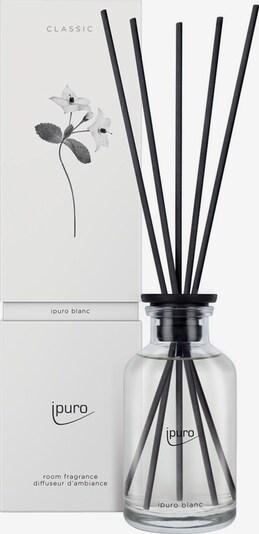 ipuro Raumduft 'Blanc' in schwarz / transparent, Produktansicht