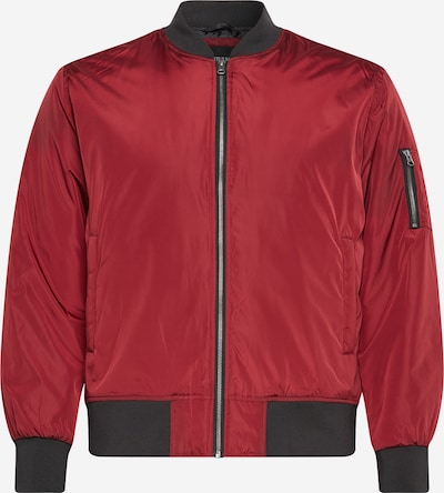 Urban Classics Big & Tall Tussenjas in de kleur Robijnrood / Zwart, Productweergave