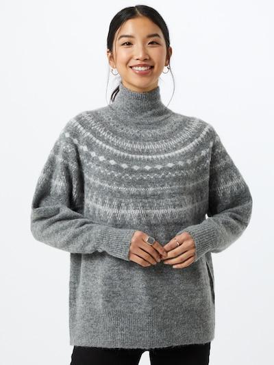 Megztinis 'Stone' iš OBJECT , spalva - margai pilka / balta: Vaizdas iš priekio