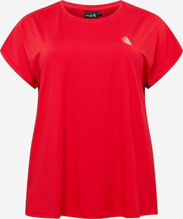 Active by Zizzi Performance Shirt in Red