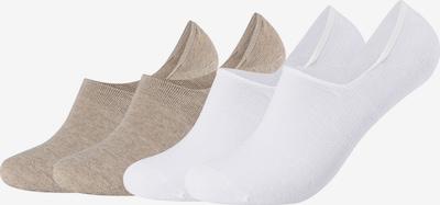 camano Füßlinge in beige / weiß, Produktansicht