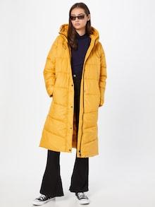 Zimný kabát s.Oliver v zlatožltej farbe