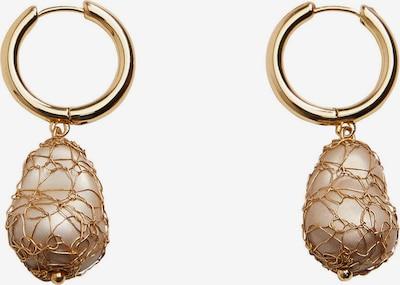 MANGO Boucles d'oreilles 'Koda' en or / blanc perle, Vue avec produit