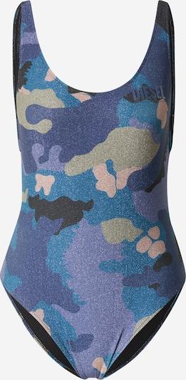DIESEL Badeanzug 'LIA' in beige / blau / dunkelblau / lila / rosa, Produktansicht