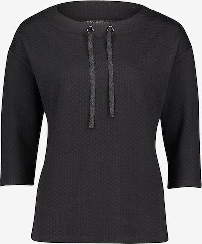 Betty Barclay Sweatpullover mit Tunnelzug in schwarz, Produktansicht