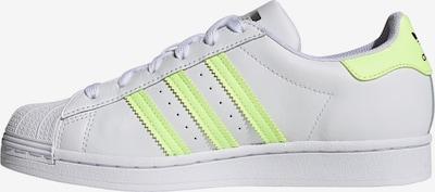 ADIDAS ORIGINALS Sneaker low 'Superstar' i neongul / hvid, Produktvisning