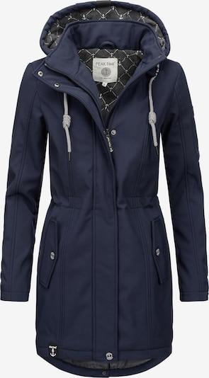 Peak Time Manteau fonctionnel en bleu foncé, Vue avec produit