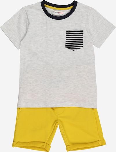 MINOTI Set en jaune / gris chiné, Vue avec produit