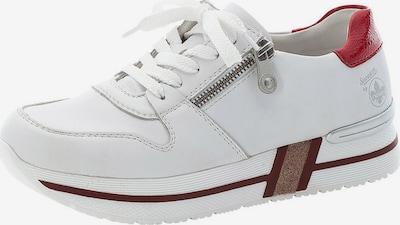 Sneaker low RIEKER pe gri deschis / roșu / alb, Vizualizare produs