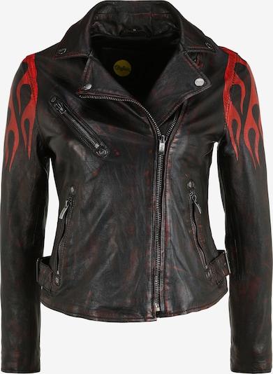 BUFFALO Lederjacke 'BE Hot' in mischfarben / rot / schwarz, Produktansicht