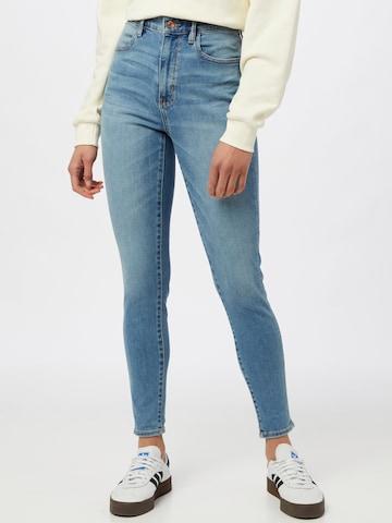American Eagle Jeans 'SUPER HI-RISE JEGGING' in Blau