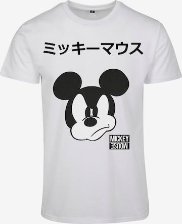 Mister Tee Paita 'Mickey Japanese' värissä valkoinen