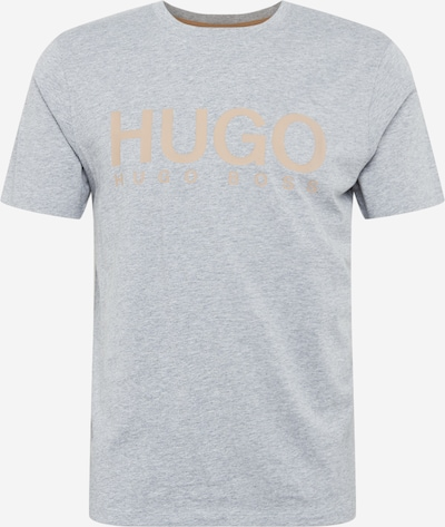 HUGO Shirt 'Dolive204' in de kleur Bruin / Grijs, Productweergave