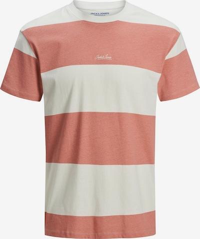 JACK & JONES T-Shirt en saumon / blanc, Vue avec produit