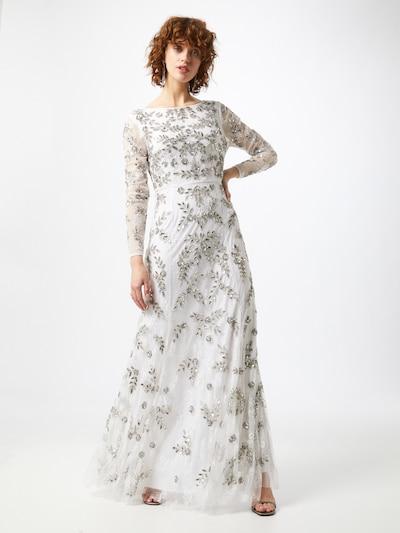 Maya Deluxe Kleid in silber / weiß, Modelansicht