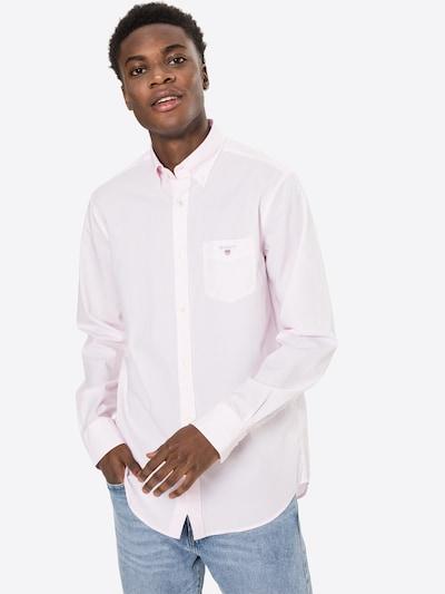 GANT Риза 'BANKER' в светлорозово / бяло: Изглед отпред
