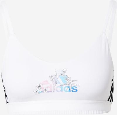 ADIDAS PERFORMANCE Soutien-gorge de sport 'NINI' en bleu clair / rose clair / noir / blanc, Vue avec produit