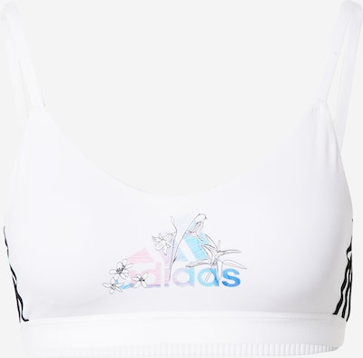ADIDAS PERFORMANCE Sports-BH 'NINI' i lyseblå / lys pink / sort / hvid, Produktvisning