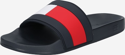 TOMMY HILFIGER Mules in Night blue / Red / White, Item view