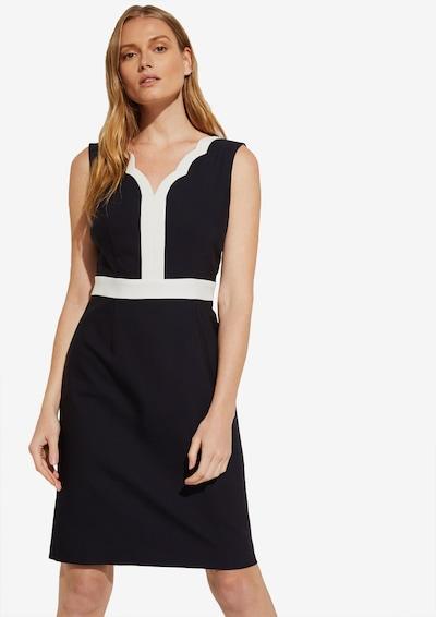 COMMA Kleid in kobaltblau / weiß, Modelansicht