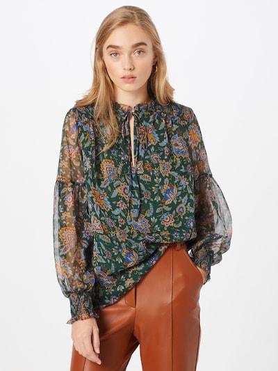 Lauren Ralph Lauren Bluse 'DEONTRE' in dunkelgrün / mischfarben, Modelansicht