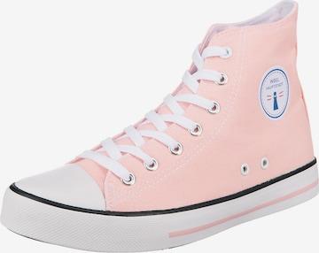 Inselhauptstadt High-Top Sneakers in Pink