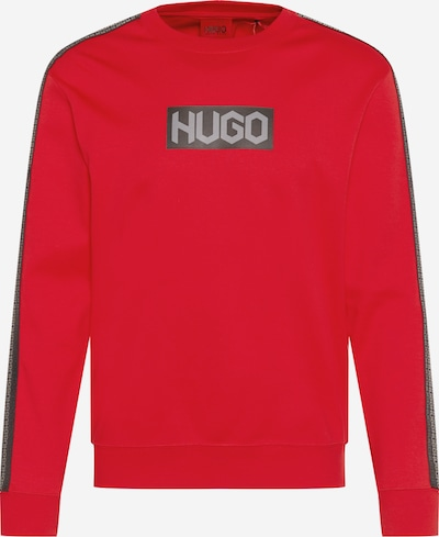 HUGO Sweatshirt 'Dubeshi' in grau / rot / schwarz, Produktansicht