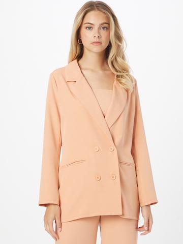 In The Style Blazer in Orange