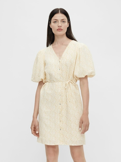 OBJECT Jurk 'Roysa' in de kleur Geel / Wit, Modelweergave