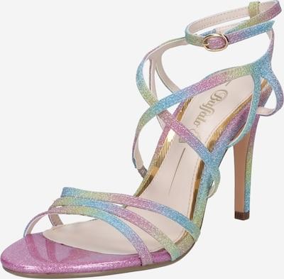 BUFFALO Sandalen met riem in de kleur Lichtblauw / Lichtgeel / Lichtgroen / Fuchsia, Productweergave