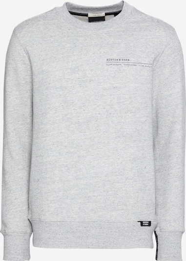 SCOTCH & SODA Sweatshirt 'Club Nomade' in hellgrau / schwarz, Produktansicht