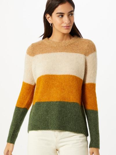 Pullover VERO MODA di colore beige / marrone / verde: Vista frontale