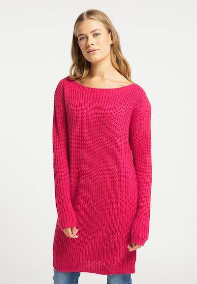 Rochie tricotat usha BLUE LABEL pe roz pitaya, Vizualizare model