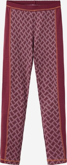 NAME IT Leggings in de kleur Bruin / Pink / Donkerrood, Productweergave