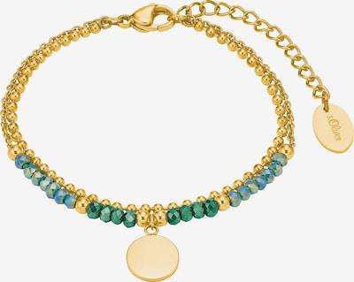 s.Oliver Armband in türkis / gold / grün, Produktansicht