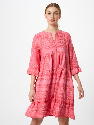 Flowers for Friends Kleid in pink / dunkelpink, Modelansicht