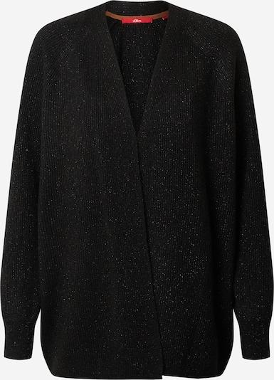 s.Oliver Gebreid vest in de kleur Zwart / Wit, Productweergave
