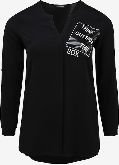 Doris Streich Langarmbluse 'THINK OUTSIDE THE BOX' in schwarz, Produktansicht