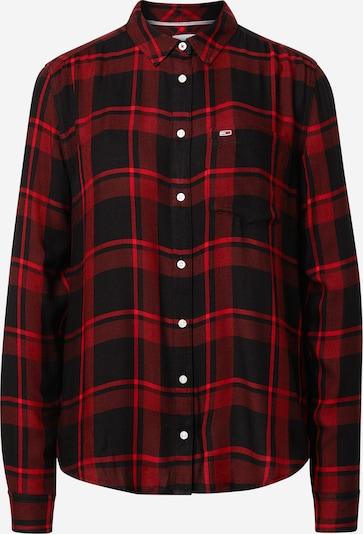 Tommy Jeans Bluse in rot / schwarz, Produktansicht