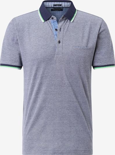 PIERRE CARDIN Poloshirt in navy / graumeliert / hellgrün / weiß, Produktansicht