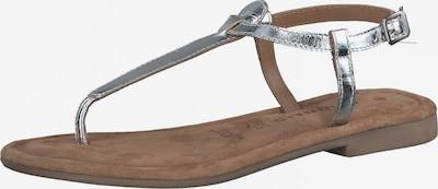 TAMARIS T-bar sandals in Silver, Item view