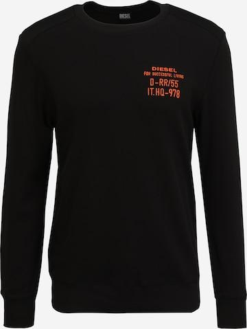 DIESEL Sweatshirt 'WILLY' in Schwarz